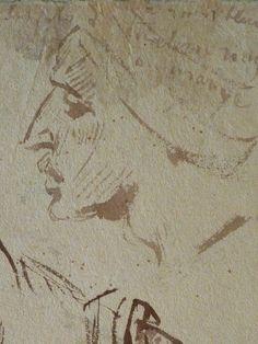 CHASSERIAU Théodore,1846 - Arabes - drawing - Détail 23 - Visage mélancolique, de profil - Melancholic face, in profil -