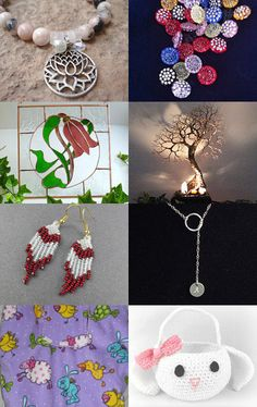 flowers and tree by Paola PA.BU on Etsy--Pinned with TreasuryPin.com