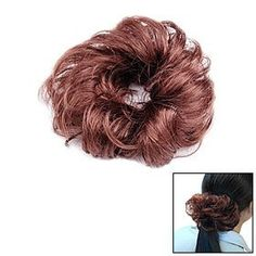 "Ladies Curly Hairpiece Bun Wig Hair Extension Brown by uxcell. $3.72. Package Content: 1x Wig Bun Extension. Weight: 23g. Material: Synthetic Fibers. Color: Brown. Total Diameter: ~5.3"". This Hair Wig Bun Extension made of synthetic fibers with rubber band; Stylish and beautiful change your hair style in minutes with this Brown Bun Extension."