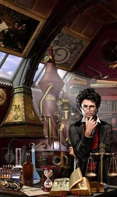 Vadim Panov  #Illustration #Steampunk. You can tell everything about him from this one illustration.