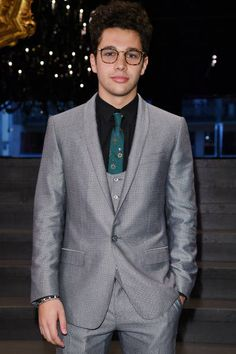 Austin Mahone attends the Dolce & Gabbana show in Milan