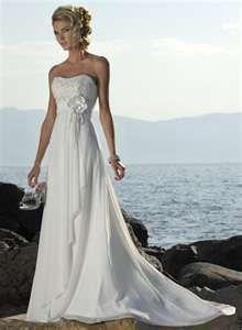 Empire waist wedding dress. Great beach wedding gown, 2nd wedding, or garden wedding gown.