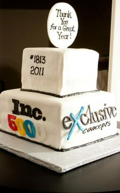 Cake to celebrate making the INC 5000!   Honor roll 5 years in a roll! Exclusive Concepts Inc