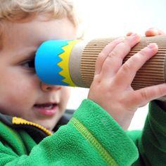 Activité bricolage- Fabriquer un kaléidoscope avec un rouleau d'essuie tout, de sopalin.