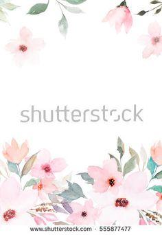 Watercolor template. Floral card | Watercolor | Pinterest ...