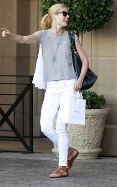 Gwyneth Paltrow  Dziewczyna Iron Man'a po godzinach. Inspiracje kalifornijskiej piękności!  Więcej na ModaCafe!