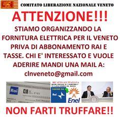 L'INDIPENDENZA DI SAN MARCO: CLN-VENETO, FORNITURA ENERGIA ELETTRICA SENZA TASS...