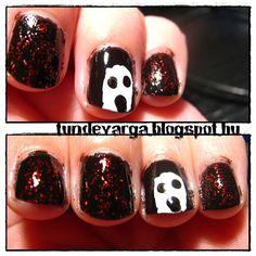 DIY halloween nails: DIY Halloween nail art : Halloween Challenge  Ghost