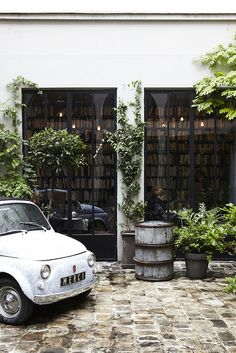 Merci concept store - a tucked away courtyard (from the street, it looks like just a bookshop + cafe but in the back there is so much more!)