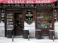 Casa de Abuelo Tapas Bar, Madrid Awesome place for shrimp done many ways.near Plaza Santa Ana Cgi, Bar Madrid, Madrid Metro, Running Of The Bulls, Irish Bar, Spanish Dancer, Tapas Bar, Pamplona, My Escape