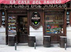 la casa del abuelo, en calle victoria, Huertas, madrid