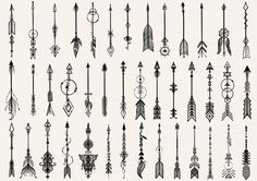 Big set of hand drawn tribal arrows for design element and tattoo - Stock Vector.Big set of hand drawn tribal arrows for design element and tattoo - Stock Vector - Buy this vector graphic from Shutterstock and you will find more images.