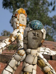 Nek Chand - India Ethan: Maybe we can do this. We can take rocks and sand and it will stick together. Osei: That's too hard.