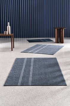 Løype Stormy Blue is inspired by the fresh trails of cross-country skiing. A ski track crosses the m Pantone 2020, Machine Washable Rugs, Rug Texture, Everyday Objects, Contemporary Rugs, Graphic Patterns, Indoor Outdoor Rugs, Sustainable Living, The Fresh