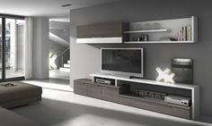 Salones NILSSON. Su laminado de gran calidad consigue el acabo elegante de este mueble. Consulta otras características en www.mymobel.com