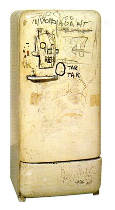 A vintage fridge, customized by Basquiat... My Dream!