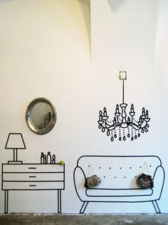 DIY: 5 ideias para decorar a sua casa com fita isolante - Black Tape #DIY #fitaisolante #decor #blacktape