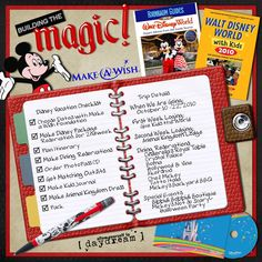 I've done a partial, but need to add some pics from the most recent trip. This could come in handy! Plan a Disney Trip scrapbook layout