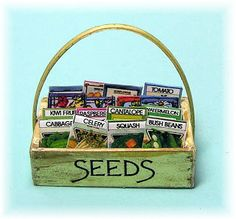 SEED BOX TUTORIAL from DYI DOLLHOUSE MINIATURES