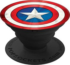 PopSockets: Collapsible Grip & Stand for Phones and Tablets - Captain America Shield Icon - Electronics Shield Icon, Diy Pop Socket, Pop Sockets Iphone, Cell Phones For Sale, Captain America Shield, Diy Gifts For Friends, All Smartphones, Phone Holder, Phone Accessories