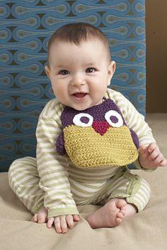 Ravelry: Owl Bib pattern by Lion Brand Yarn