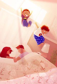 New house, new bed, NEW FUN!! #pascalcampionart _Say it Max, say it! _OIEOIEEEEOIEEEE OIEEOIEEEEE( That's Max's way of imitating Tarzan)