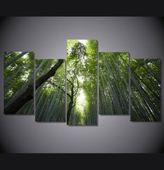 We specialize in high quality large multi-panel wall canvas, purchase this amazing bamboo forest landscape wall canvas today we will ship the canvas for free. T