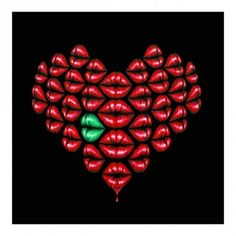 Love Lips- Green By Osch aka Otto Schade: Category: Art Currency: GBP Price: GBP180.00 Retail Price: 180.00 'Love Lips ヨ Green' is a…