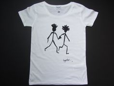Together on women's white organic t-shirt