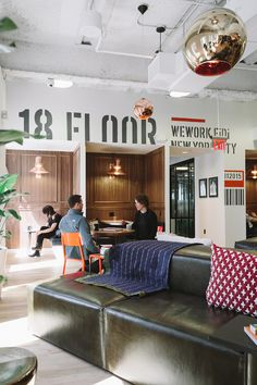 WeWork's coworking space in New York's FiDi