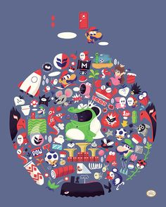 Super Mario Bros. 2 by Christopher Lee #nintendo #illustration #geeky