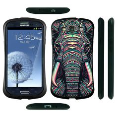 Silikonová pouzdra Samsung | Samsung Galaxy S3 Neo | Odolné silikonové Pouzdro na mobil Samsung Galaxy S3 Neo i9301i HEAD CASE SLON AZTEC | CoolCase.cz pouzdra, kryty a obaly na mobilní telefony