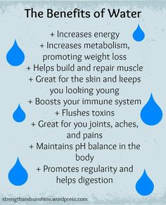 benefits of hydration - DRINK IT! flush, metabolize and energize!