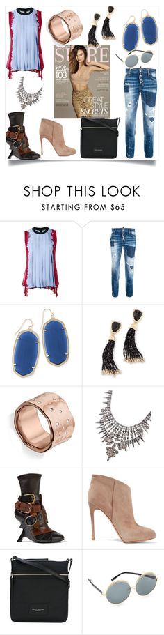 """set sale alert"" by kristeen9 on Polyvore featuring Kerr®, Versace, Dsquared2, Kendra Scott, Monica Vinader, Tom Ford, Gianvito Rossi, Marc Jacobs and N°21"