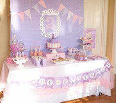 Doc McStuffins Birthday Party Ideas | Photo 1 of 86 | Catch My Party... Larrin is loving this show right now and told me she wants a purple and pink party haha