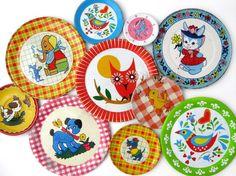 tin tea party plates.