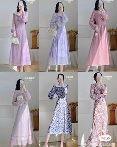 Cute Skirt Outfits, Girly Outfits, Classy Outfits, Pretty Outfits, Pretty Dresses, Vintage Outfits, Modern Hijab Fashion, Korean Fashion Dress, Korean Dress