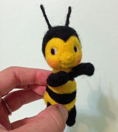 Needle Felted Baby Bumble Bee by Melanie's Menagerie.