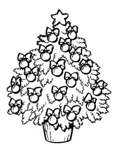 Colorear árbol de Navidad