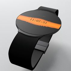 Designed by Niels Astrup, the Touch Skin OLED watch concept is a minimal watch with a flat touchscreen OLED display. The watch connects to your computer or smartphone via Bluetooth connectivity, allowing you to download new designs or skins for the display. What makes the Touch Skin OLED watch more interesting is that it is able to adjust its time automatically via radio.