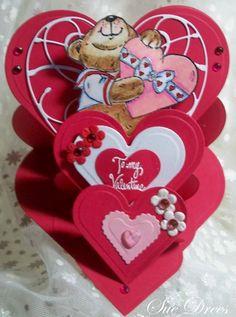 Triple heart easel