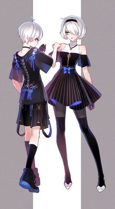 Image about nier automata in ɴɪᴇʀ: ᴀᴜᴛᴏᴍᴀᴛᴀ by ad astra Nier Automata, Character Outfits, Character Art, Vestidos Anime, Base Anime, Anime Songs, Anime Couples Manga, Couple Outfits, Manga Games