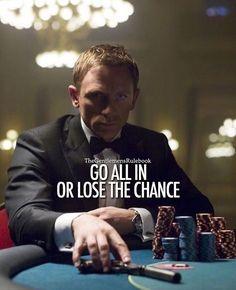 Risk big win big, small risk small win, no risk no win.  LIKE & TAG SOMEONE!