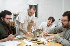 In a kitchen downtown, the partners in Major Food Group are refining dishes for the Landmark Rooms at the Seagram Building, their new project in a fabled location.