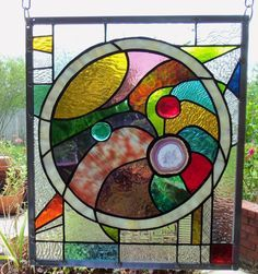 """Stained Glass Window Panel: ~~"""" In the Round"""""""