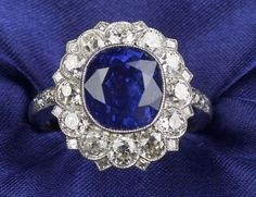 Platinum, Sapphire, and Diamond Ring | Sale Number 2277, Lot Number 547 | Skinner Auctioneers