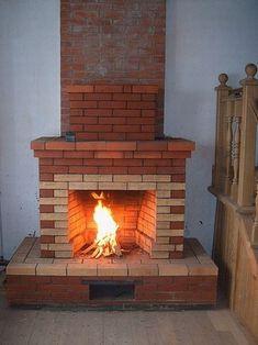 Easy Tile, Backyard Furniture, Barbacoa, Fireplace Design, Tiny House Plans, Sunday School, Rustic Wood, Firewood, Building A House