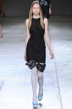 Little Black Dress with a Swarovski twist at Michael van der Hamm AW14 #SwarovskiCollective