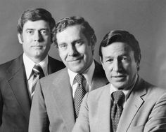 From Left 60 Minutes Hosts Dan Rather Morley Safer And Mike Wallace