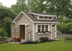 How does your garden grow? No doubt, a whole lot easier with an Elite Garden Shed from Ulrich. Pretty as a picture with lots of special details on the outside, this structure offers all the storage capacity and convenience you need on the inside. Choose your colors for a custom solution that enhances the beauty of your backyard. www.ulrichbarns.com